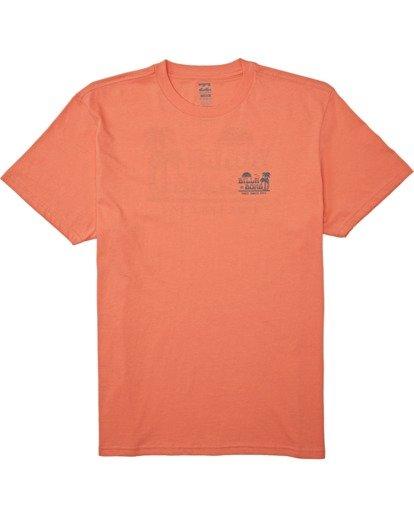 3 Lounge Short Sleeve T-Shirt Orange M4042BLO Billabong
