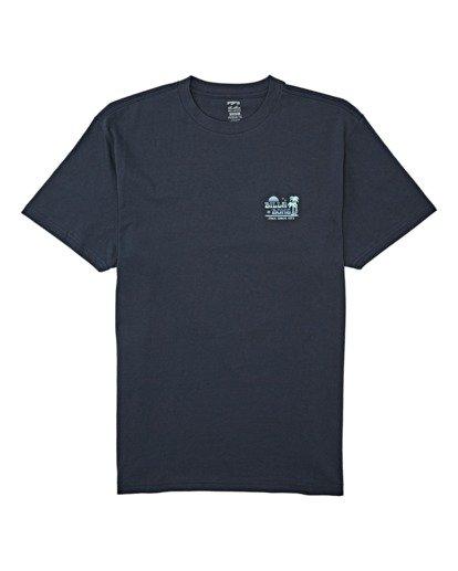 3 Lounge Short Sleeve T-Shirt Blue M4042BLO Billabong
