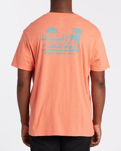 2 Lounge Short Sleeve T-Shirt Orange M4042BLO Billabong