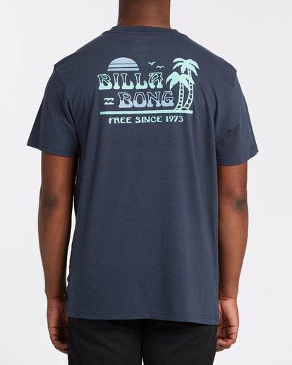 2 Lounge Short Sleeve T-Shirt Blue M4042BLO Billabong