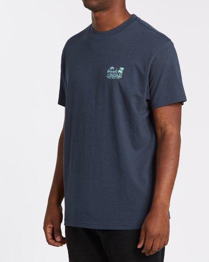 1 Lounge Short Sleeve T-Shirt Blue M4042BLO Billabong