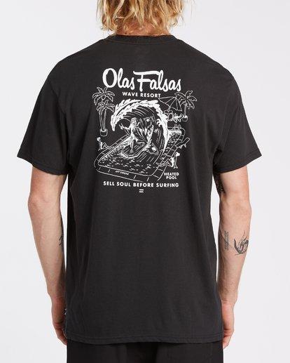 2 Olas Falsas Short Sleeve T-Shirt Black M4042BOF Billabong