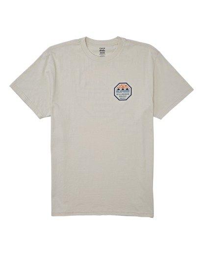 3 Polygon Short Sleeve T-Shirt Brown M4042BPO Billabong