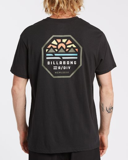 2 Polygon Short Sleeve T-Shirt Black M4042BPO Billabong