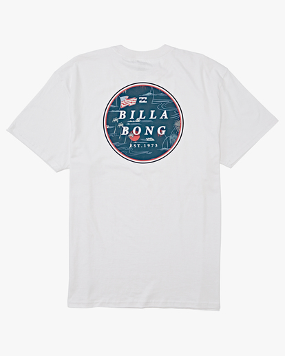 4 Rotor Short Sleeve T-Shirt White M4042BRO Billabong