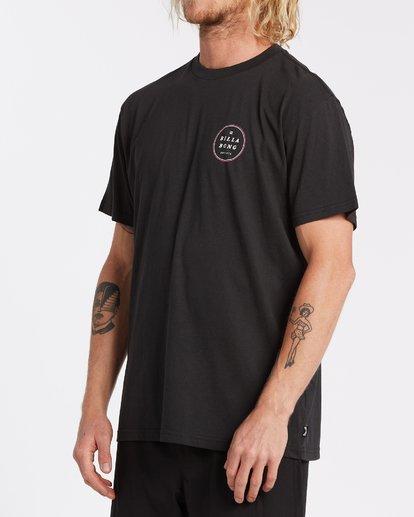 1 Rotor Short Sleeve T-Shirt Black M4042BRO Billabong
