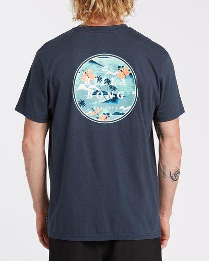2 Rotor Short Sleeve T-Shirt Blue M4042BRO Billabong