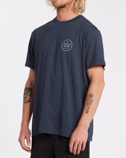 1 Rotor Short Sleeve T-Shirt Blue M4042BRO Billabong