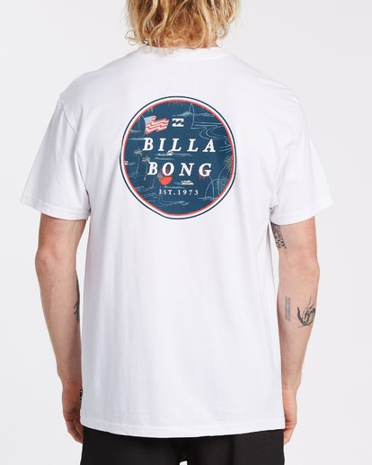 2 Rotor Short Sleeve T-Shirt White M4042BRO Billabong