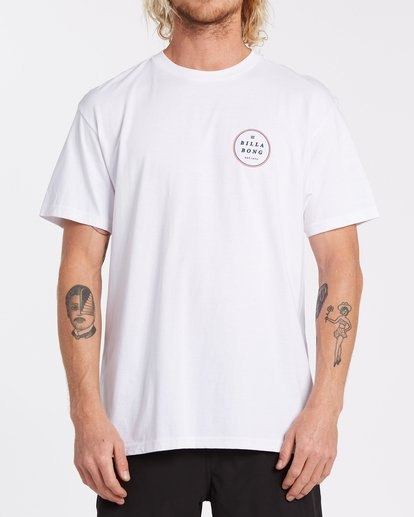 0 Rotor Short Sleeve T-Shirt White M4042BRO Billabong
