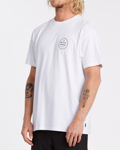 1 Rotor Short Sleeve T-Shirt White M4042BRO Billabong