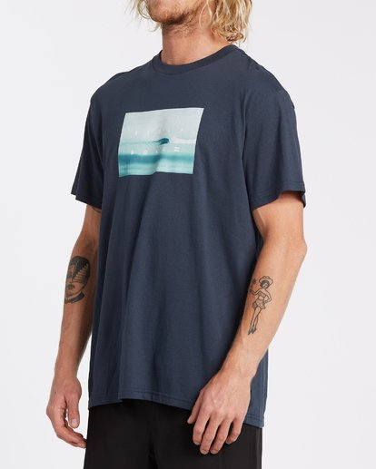 1 Scenic Short Sleeve T-Shirt Blue M4042BSC Billabong