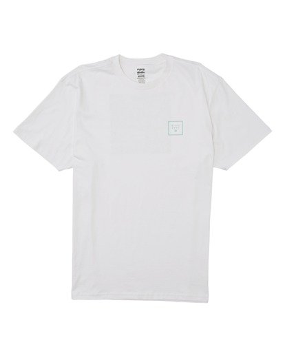 3 Stacked Fill Short Sleeve T-Shirt White M4042BSF Billabong