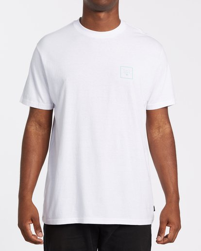 0 Stacked Fill Short Sleeve T-Shirt White M4042BSF Billabong
