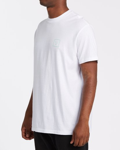 1 Stacked Fill Short Sleeve T-Shirt White M4042BSF Billabong