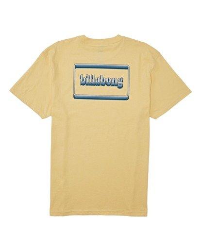 4 Techcolor Short Sleeve T-Shirt Yellow M4042BTC Billabong