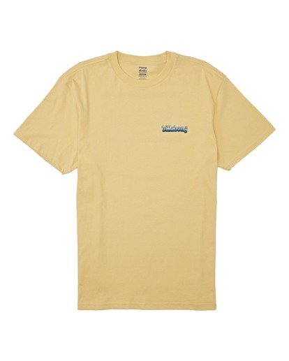 3 Techcolor Short Sleeve T-Shirt Yellow M4042BTC Billabong