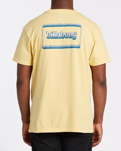 2 Techcolor Short Sleeve T-Shirt Yellow M4042BTC Billabong