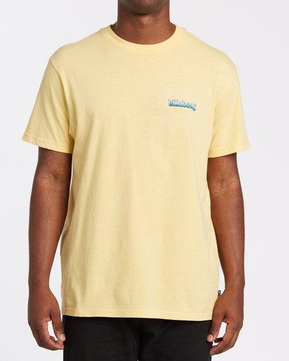 0 Techcolor Short Sleeve T-Shirt Yellow M4042BTC Billabong