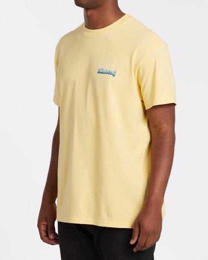 1 Techcolor Short Sleeve T-Shirt Yellow M4042BTC Billabong