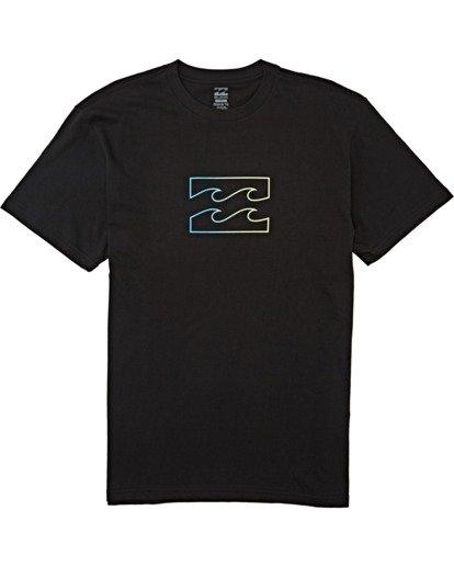 3 Team Wave Short Sleeve T-Shirt Black M4042BTW Billabong