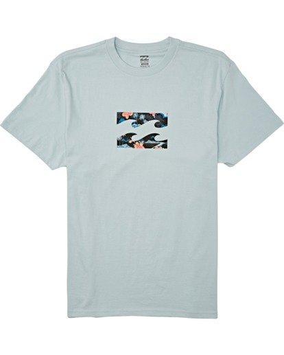 3 Team Wave Short Sleeve T-Shirt Blue M4042BTW Billabong