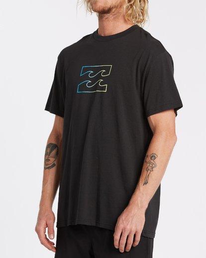 1 Team Wave Short Sleeve T-Shirt Black M4042BTW Billabong