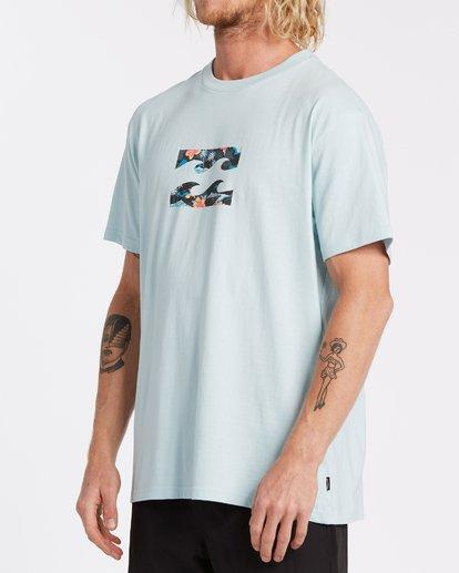 1 Team Wave Short Sleeve T-Shirt Blue M4042BTW Billabong