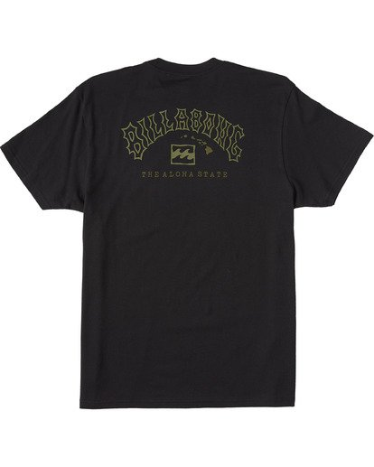 1 Arch Hawaii Short Sleeve T-Shirt Black M4043BAR Billabong