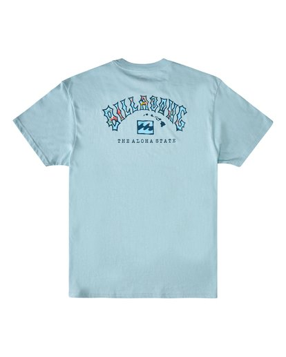 1 Arch Hawaii Short Sleeve T-Shirt Blue M4043BAR Billabong