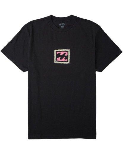 3 Crayon Wave T-Shirt Black M4043BCW Billabong