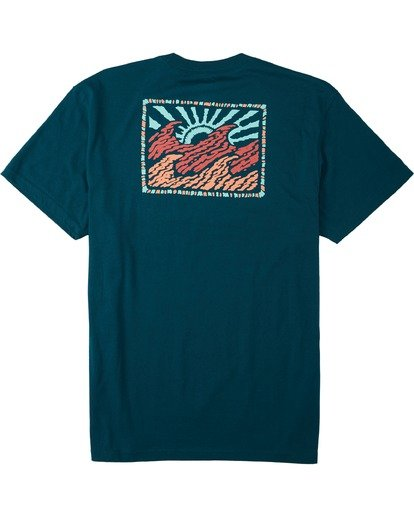 4 Crayon Wave T-Shirt Multicolor M4043BCW Billabong
