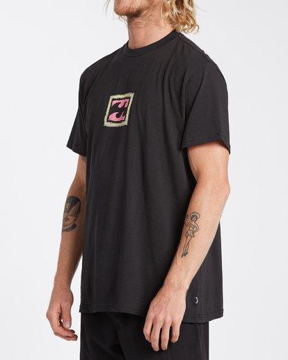 1 Crayon Wave T-Shirt Black M4043BCW Billabong