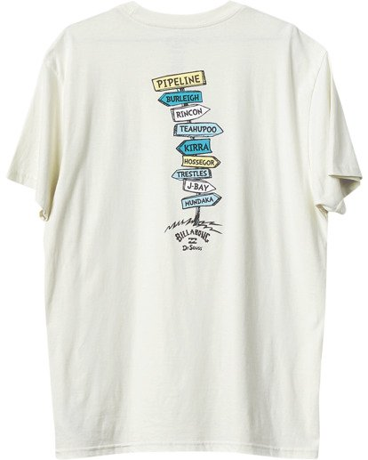 3 From Here To There T-Shirt White M4043BFH Billabong