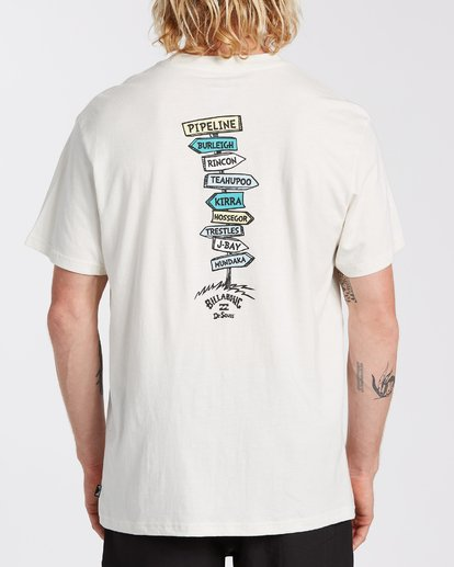 2 From Here To There T-Shirt White M4043BFH Billabong