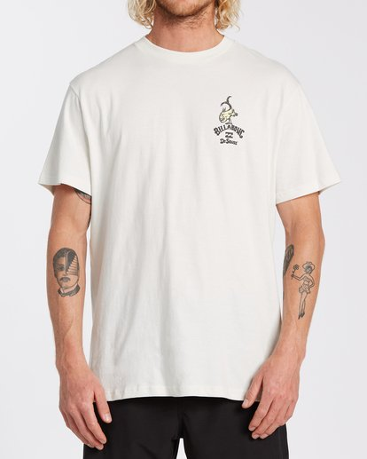 0 From Here To There T-Shirt White M4043BFH Billabong