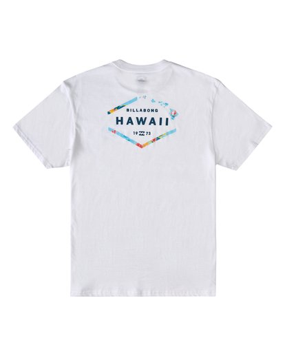 1 Geo Hawaii Short Sleeve T-Shirt White M4043BGE Billabong