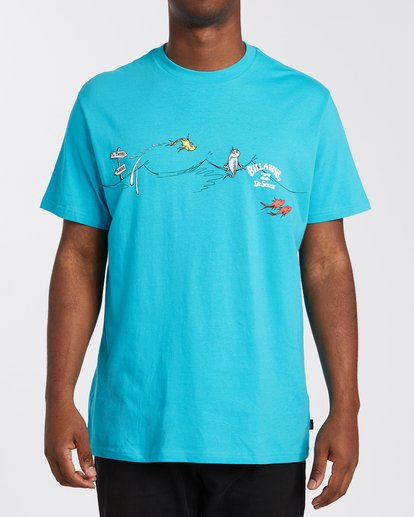 0 One Fish Two Fish T-Shirt Black M4043BOF Billabong