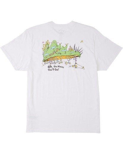 4 Oh The Places You'll Go T-Shirt White M4043BOG Billabong