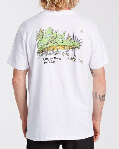 2 Oh The Places You'll Go T-Shirt White M4043BOG Billabong