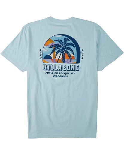 4 Palmas T-Shirt Blue M4043BPA Billabong