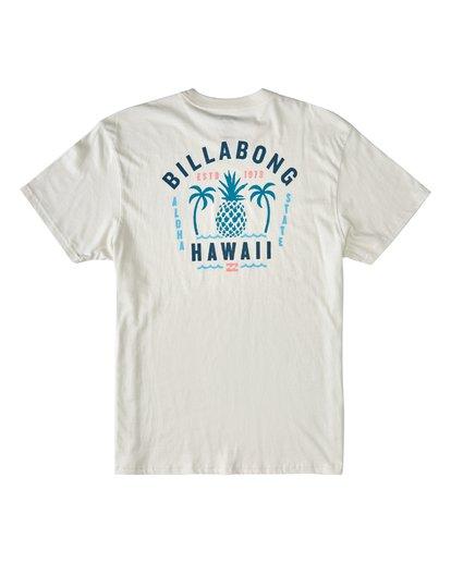 1 Pineapple Short Sleeve T-Shirt White M4043BPI Billabong