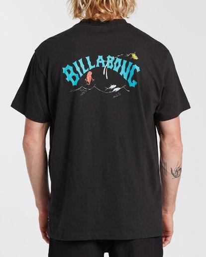 2 Red Fish T-Shirt Black M4043BRD Billabong