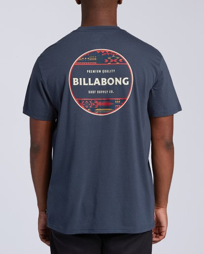 2 Rotor T-Shirt Blue M4043BRO Billabong