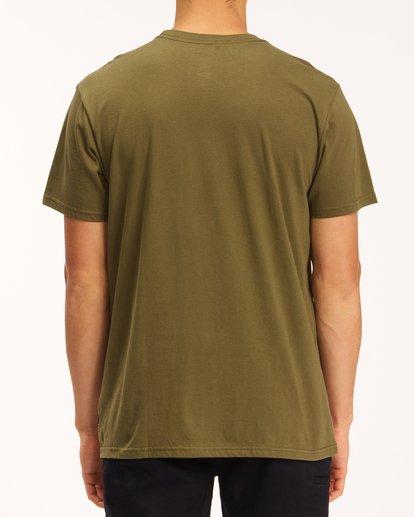 2 Team Wave T-Shirt Green M4043BTW Billabong