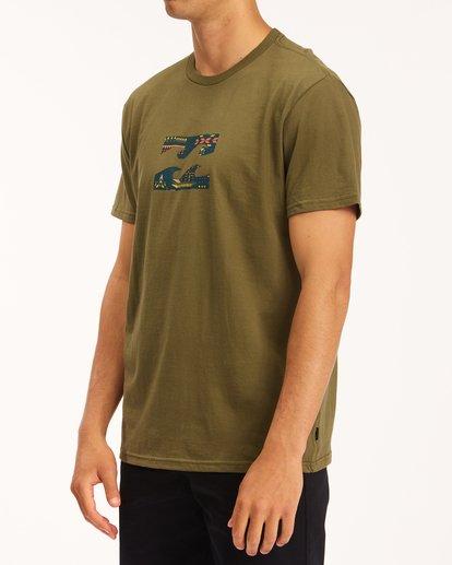 1 Team Wave T-Shirt Green M4043BTW Billabong
