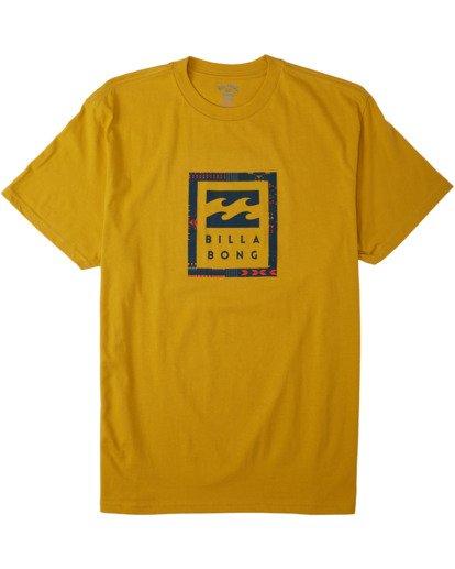3 United Stacked T-Shirt Beige M4043BUS Billabong