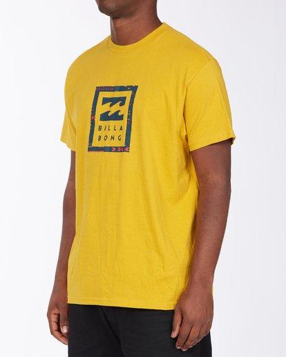 1 United Stacked T-Shirt Beige M4043BUS Billabong