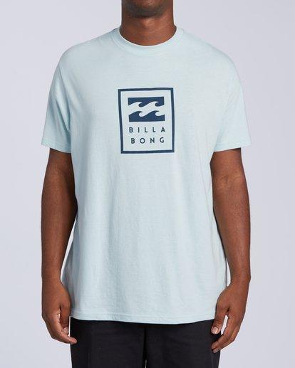 0 United Stacked T-Shirt Blue M4043BUS Billabong