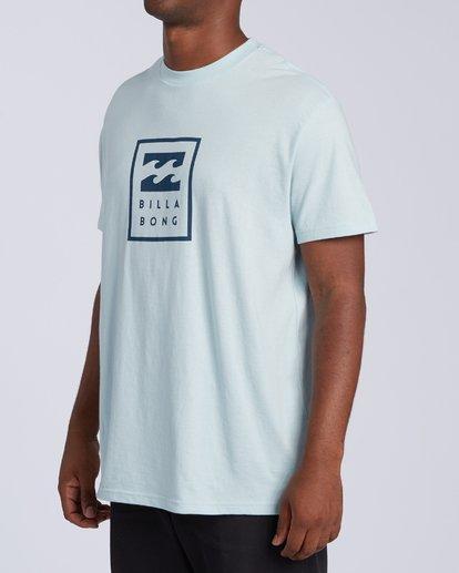 1 United Stacked T-Shirt Blue M4043BUS Billabong